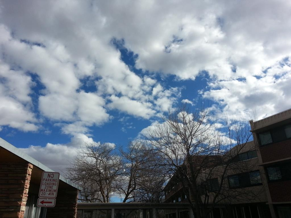 The sky over Ingersoll Hall today.
