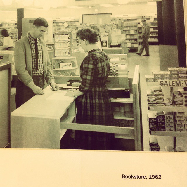 In 1962, you could get your textbooks at the CSU bookstore and a carton of Salems.