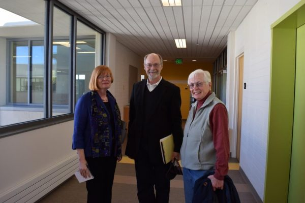 Three department chairs: Pattie Cowell, Bruce Ronda, and Louann Reid