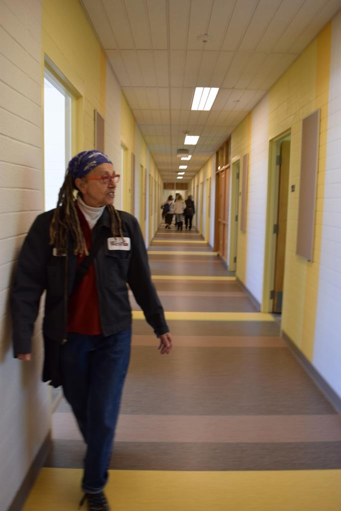 Professor Leslee Becker back on duty as Hall Monitor