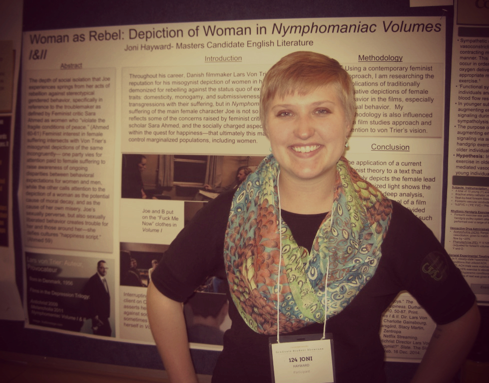 Joni at this year's Graduate Student Showcase