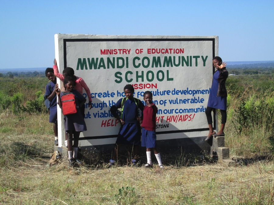 5th grade girls at Mwandi Community School