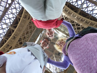 The Coke Family underneath the Eiffel Tower in Paris