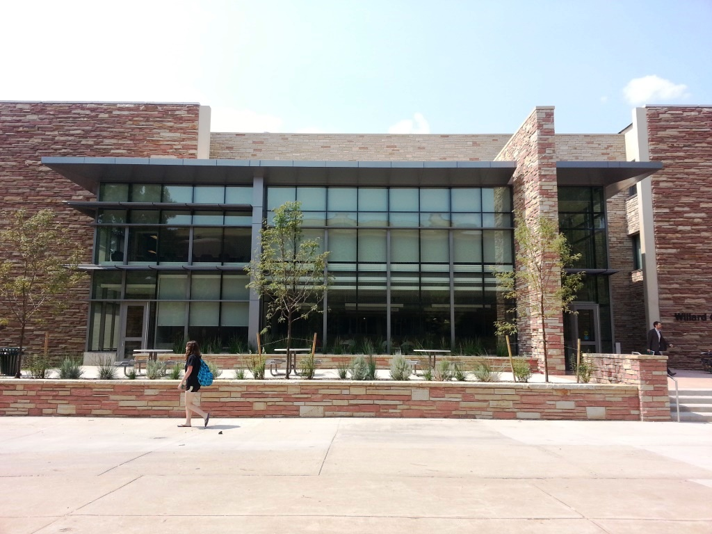 The new front of Eddy Hall