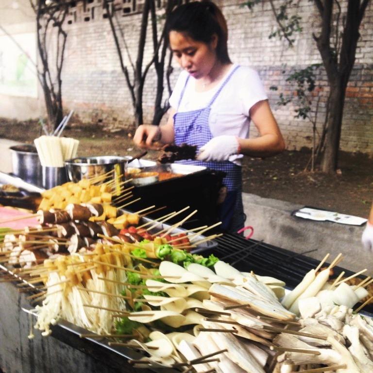 Our favorite street food vendor near our hotel