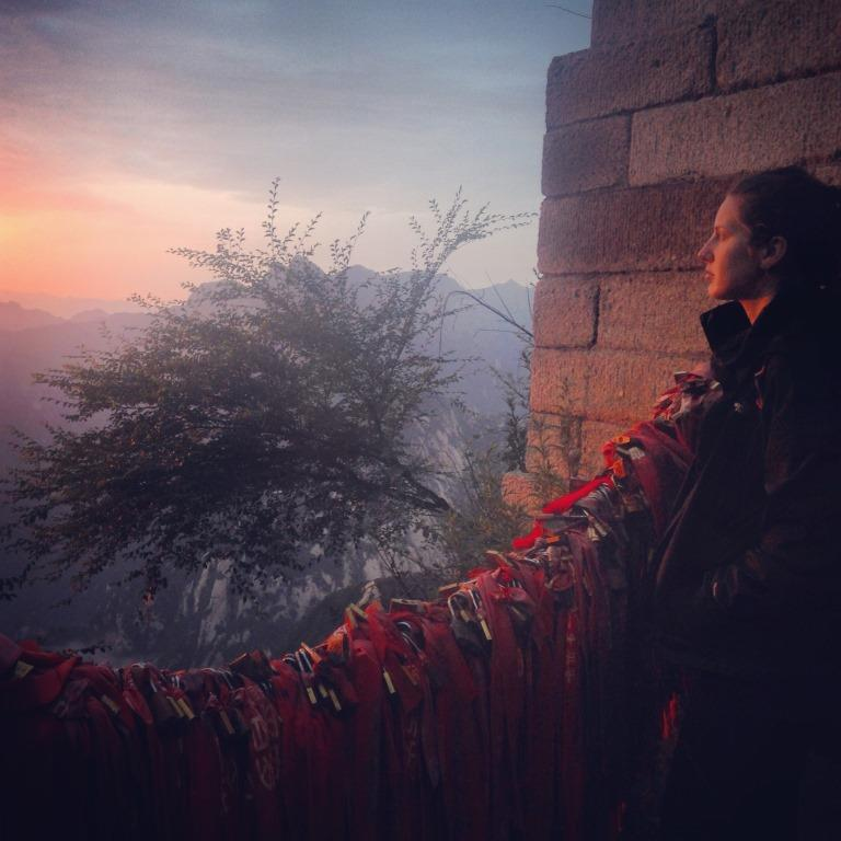 The sunrise from the top of Hua Shan