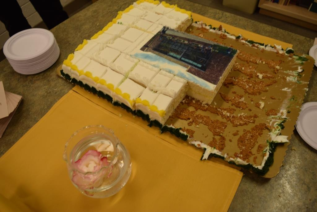 The cake for the Homecoming open house was delicious