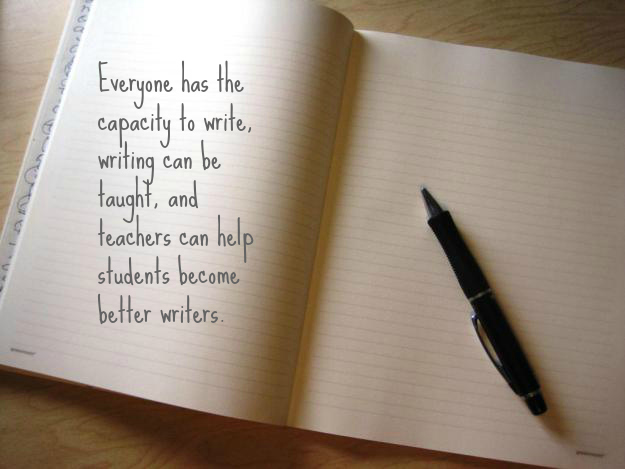 Quote from NCTE Beliefs about the Teaching of Writing, http://www.ncte.org/positions/statements/writingbeliefs