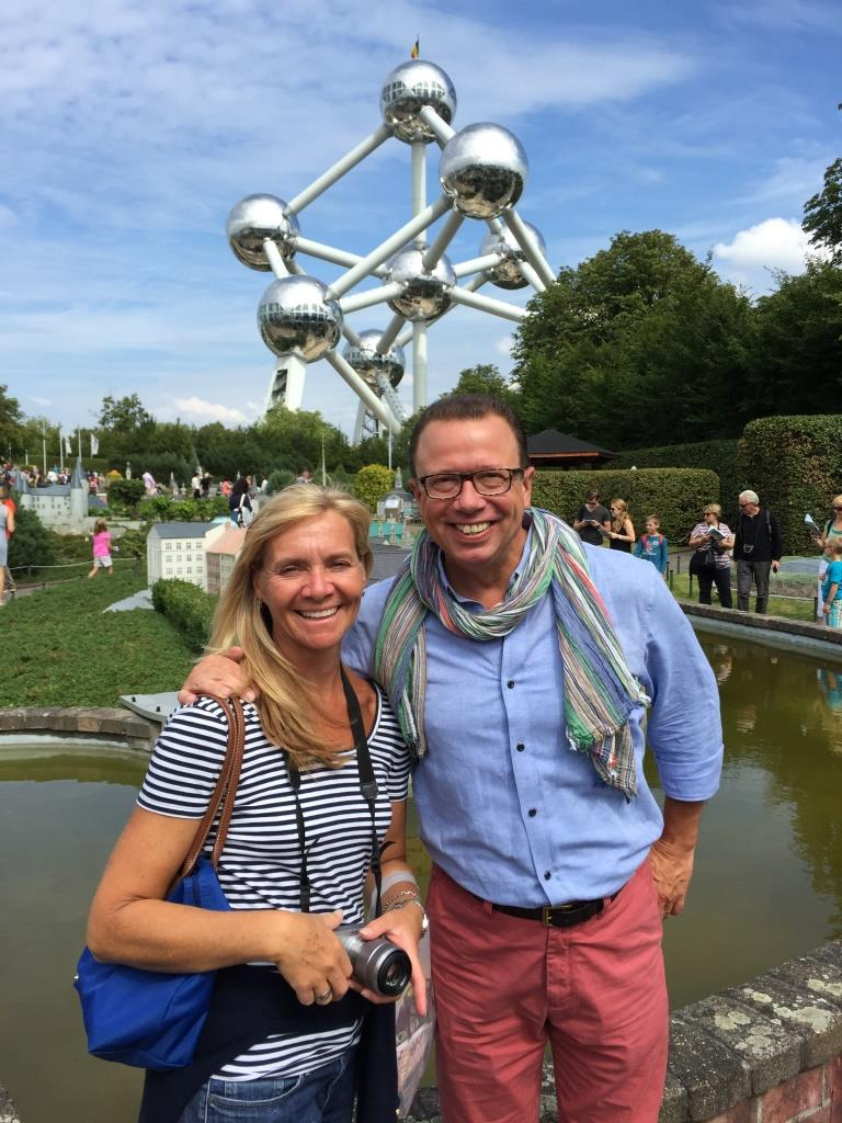 David in Brussels this past summer with his wife.