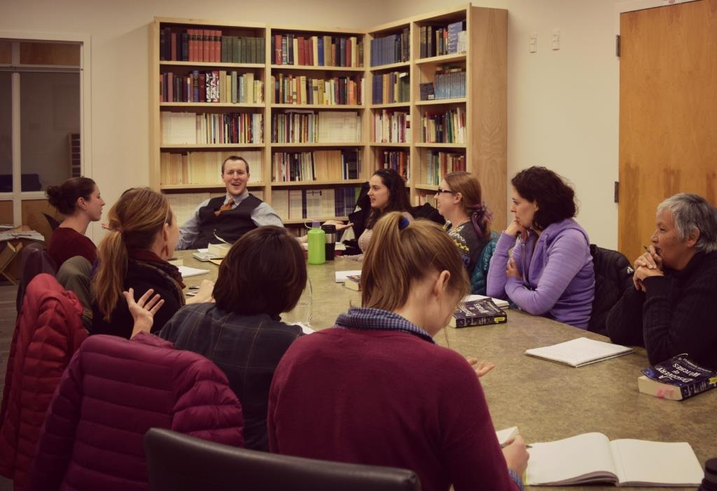 Assistant Professor Zach Hutchins and his E630D Special Topics in Literature: Gender Studies – Witchcraft class.