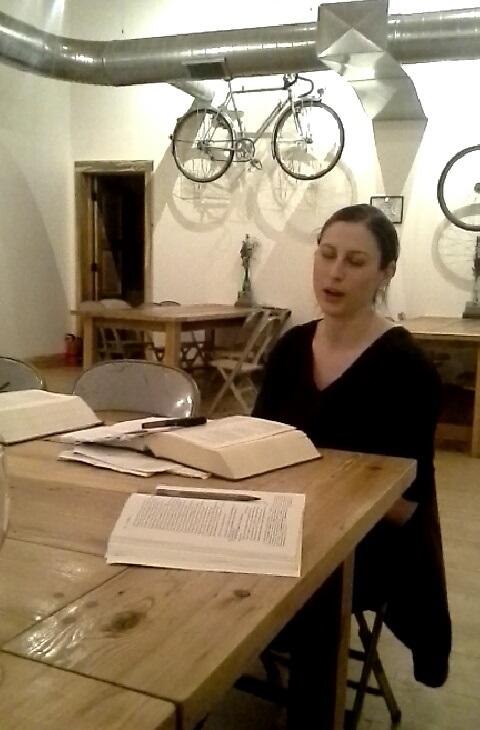 Courtney Pollard facilitates the discussion