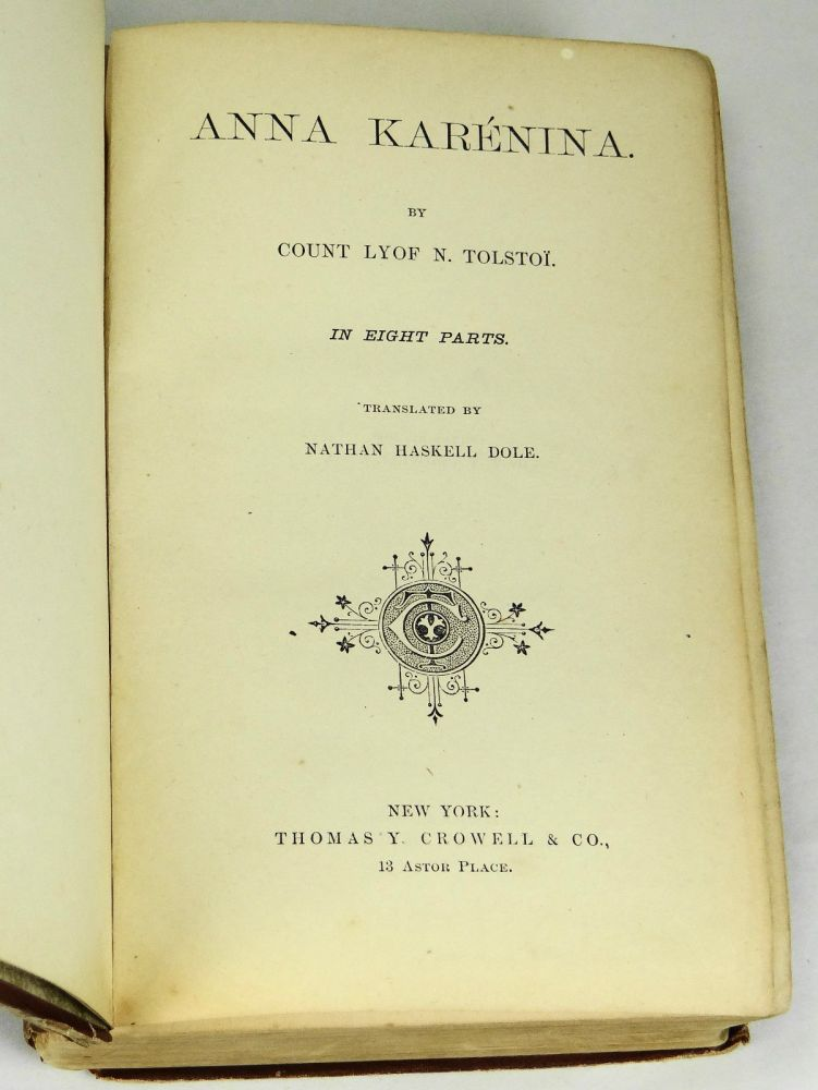 A first edition copy of Kseniya Walcott favorite book of classical Russian literature