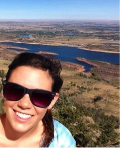 Participant, Sarah van Nostrand on top of Arthur's Rock