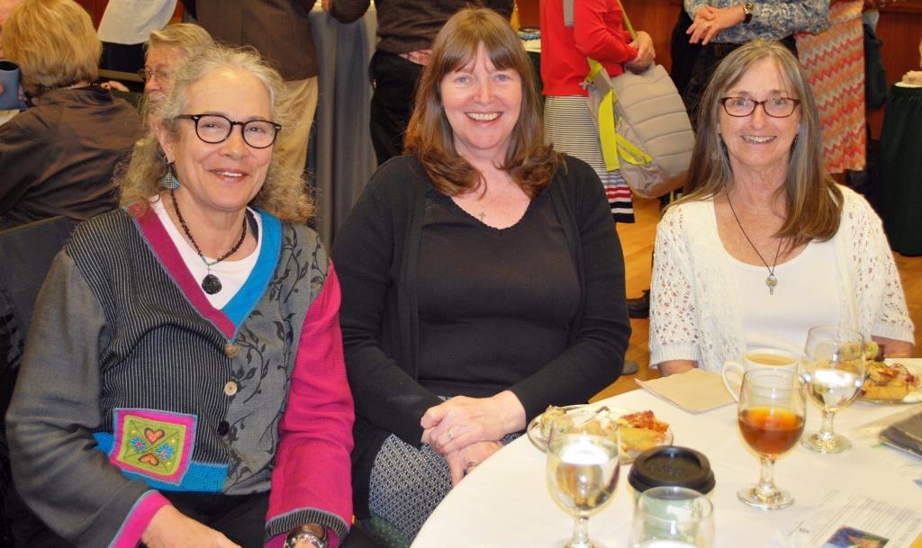 Sue Russell, Sheila Dargon, and Bev McQuinn at John Calderazzo and SueEllen Campbell's retirement celebration