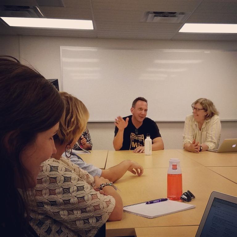 Steve Church talks with Sarah Sloane's E501 class