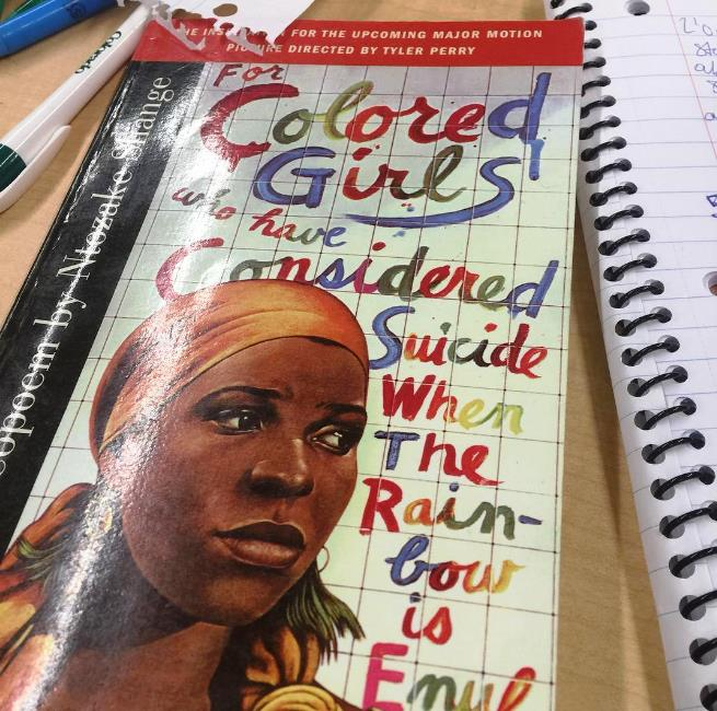 For Colored Girls who have Considered Suicide When The Rainbow is Enuf (A choreopoem) by Ntozake Shange, what intern Courtney Satchell is reading this week.