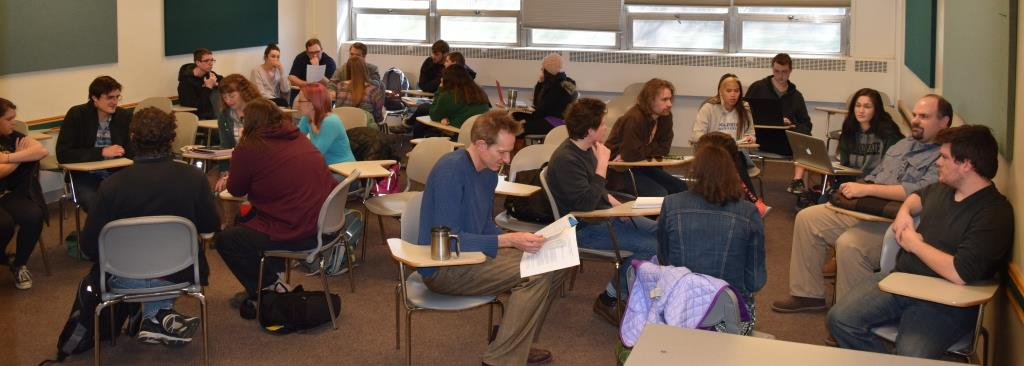 Leif Sorensen teaching E333 Critical Studies of Popular Texts: Science Fiction, Spring 2016