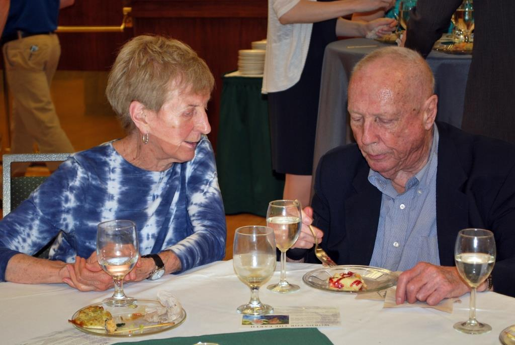 Mary Crow and John Pratt at SueEllen Campbell and John Calderazzo's retirement celebration