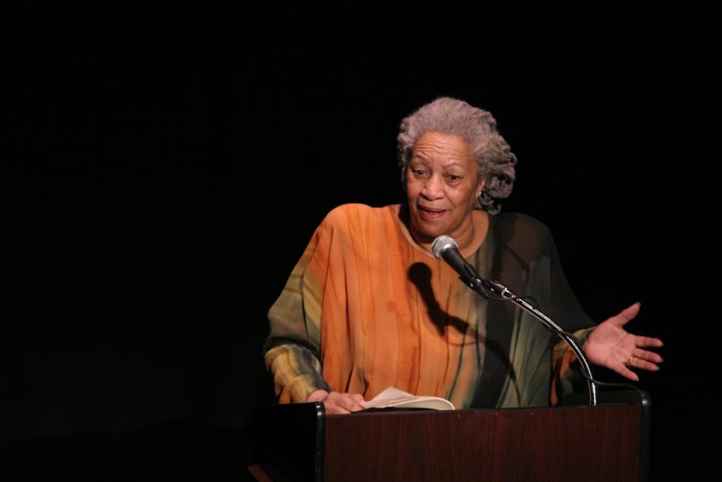 toni morrison thesis william faulkner Toni morrison (born chloe ardelia her master's thesis was virginia woolf's and william faulkner's treatment of the alienated the company of dead white males.