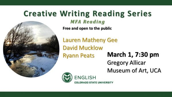 MFA Creative Writing Reading Series MFA Reading announcement