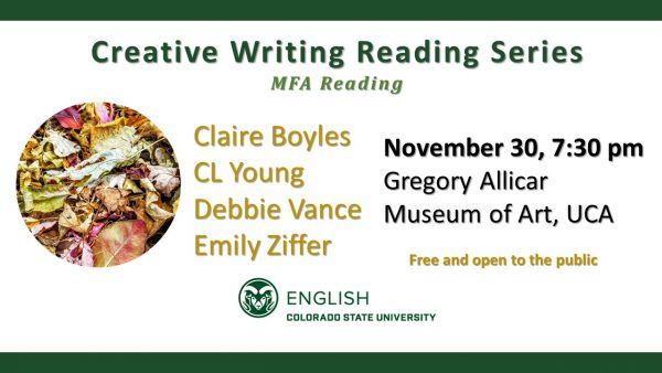MFA Reading event announcement