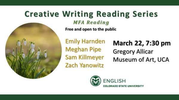 Creating Writing Reading Series Announcement