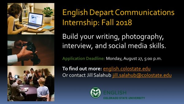 Internship position announcement slide