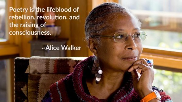Profile picture of Alice Walker with poetry quote
