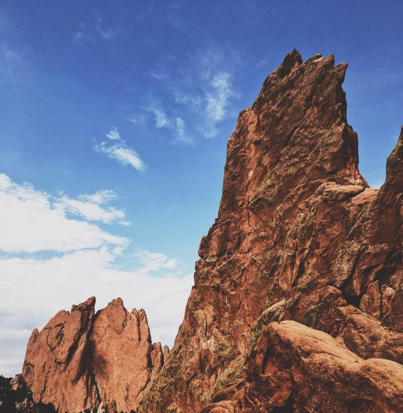 Red Rocks mountains, blue sky