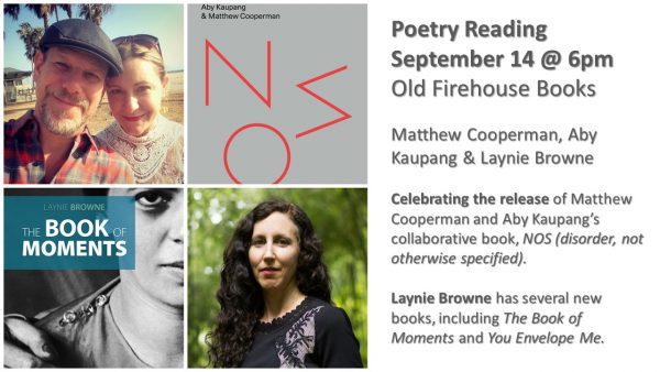 Poetry reading announcement