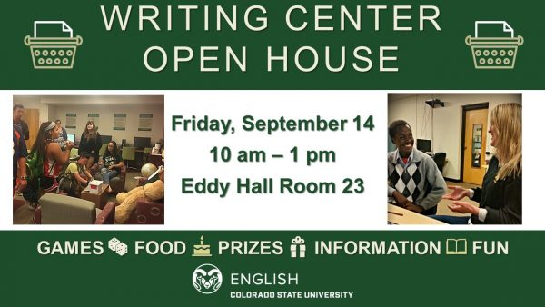 Writing Center Open House Announcement