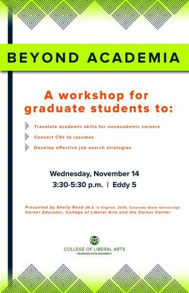 Beyond Academia workshop poster