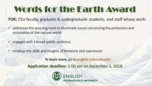 Words for the Earth Award Flyer