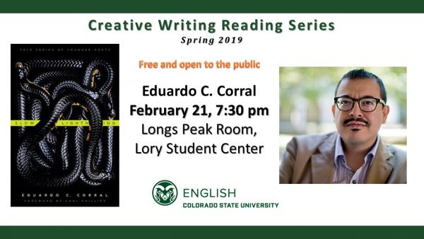 Eduardo C. Corral Reading Announcement