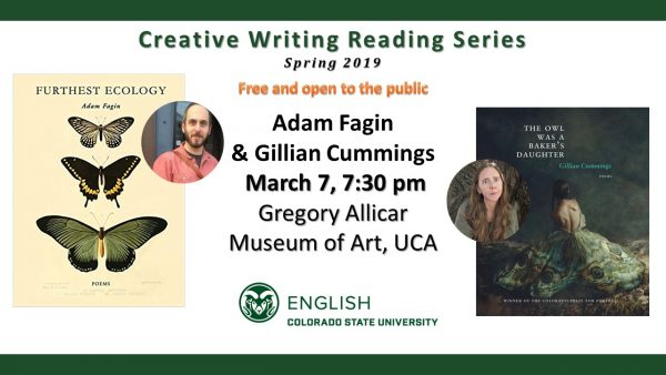 Gillian Cummings and Adam Fagin Reading Announcement
