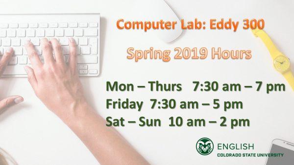 Computer Lab Hours slide