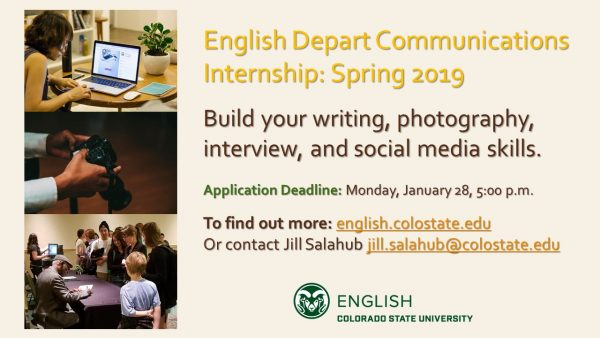 English Department Communications Internship Position Announcement