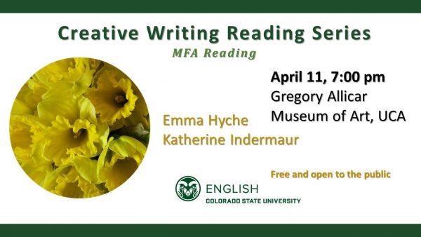 Creative Writing Reading Series slide