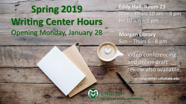 Writing Center Hours slide