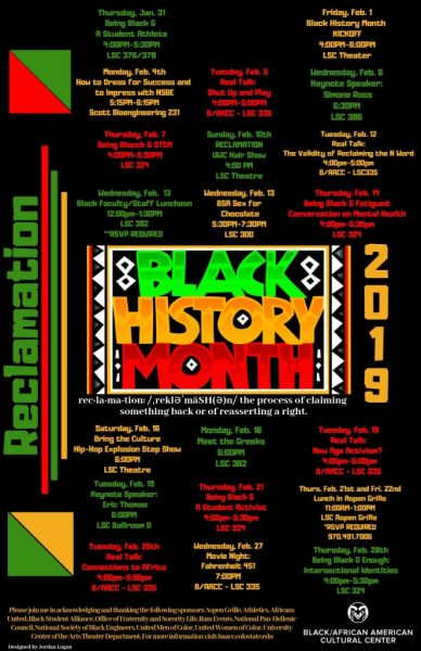 CSU Black History Month Events Flyer