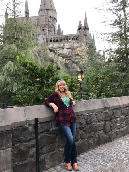 Lindsay Brookshier at the Wizarding World of Harry Potter at Universal Studios