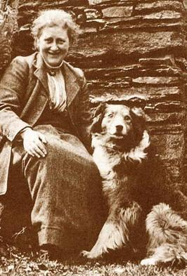 Beatrix Potter and her dog Kep, 1913
