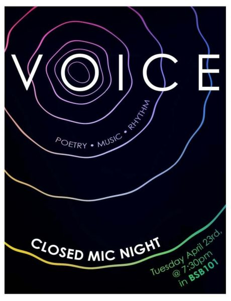 Voice event flyer