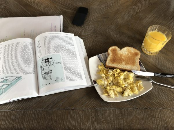 Caitlyn's breakfast and a book