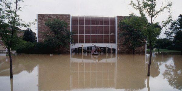 Eddy building flooded