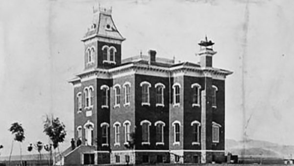 Old Main building historical photo