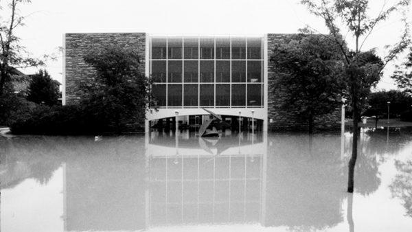 Willard O. Eddy building flooded
