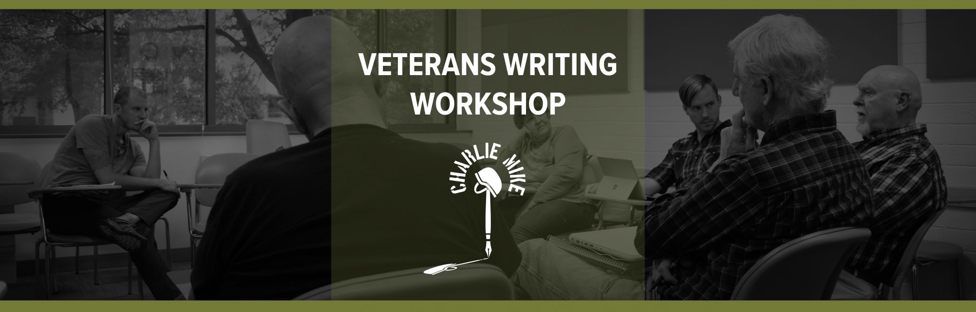 veterans writing workshop group and logo