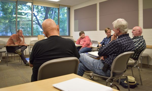 Veterans Writing Workshop in session