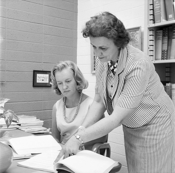 Martha Trimble with student